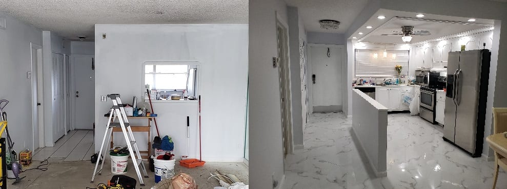 BEFORE & AFTER Condo Remodeling - The Remodeling Doctor