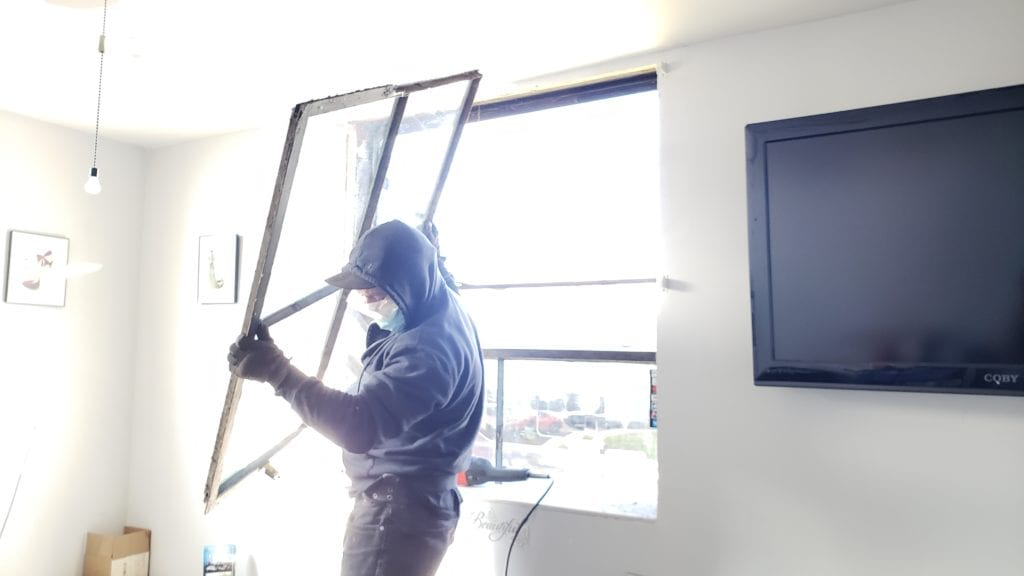 Commercial Window Removal - South Florida