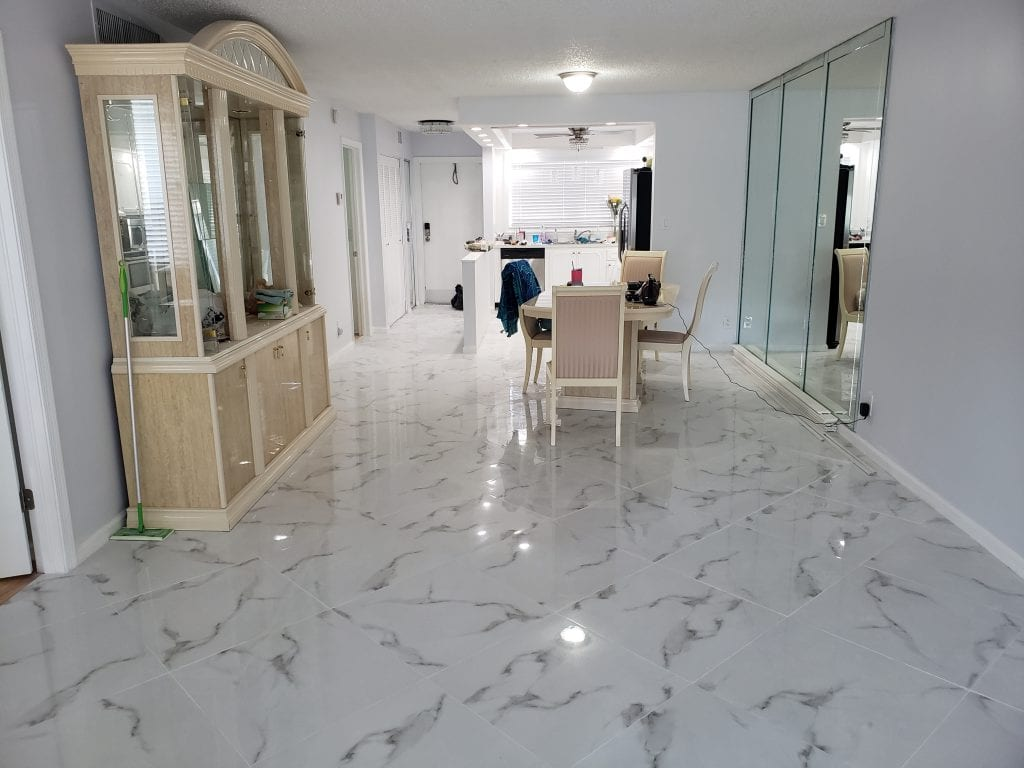 New Porcelain Marble Flooring - The Remodeling Doctor