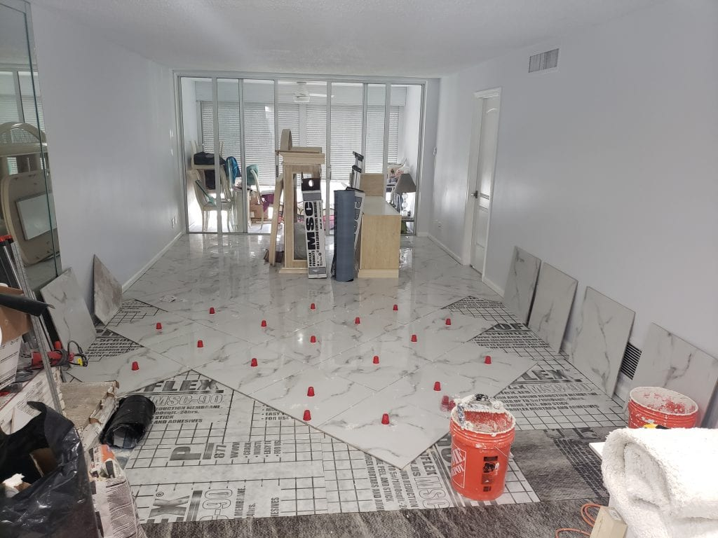 Tile Floor Job - The Remodeling Doctor